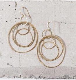 Elaine B Concentric Hoops, 18k gold vermeil