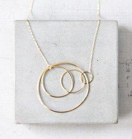 Elaine B Concentric Necklace, 18k gold vermeil