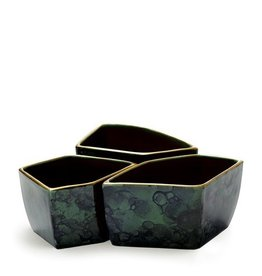 Aerin Malachite Geo Bowls, Set of 3