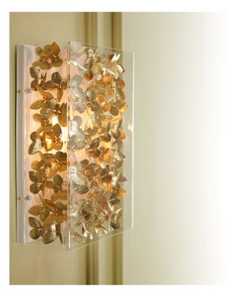 "13"" Butterfly Sconce-Gilded"