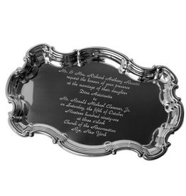 Chippendale Tray with Engraved Wedding Invitation