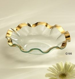 Ruffle Gold Soup Bowl