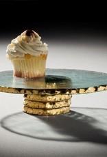 "Edgey Gold 9"" Cupcake Stand"