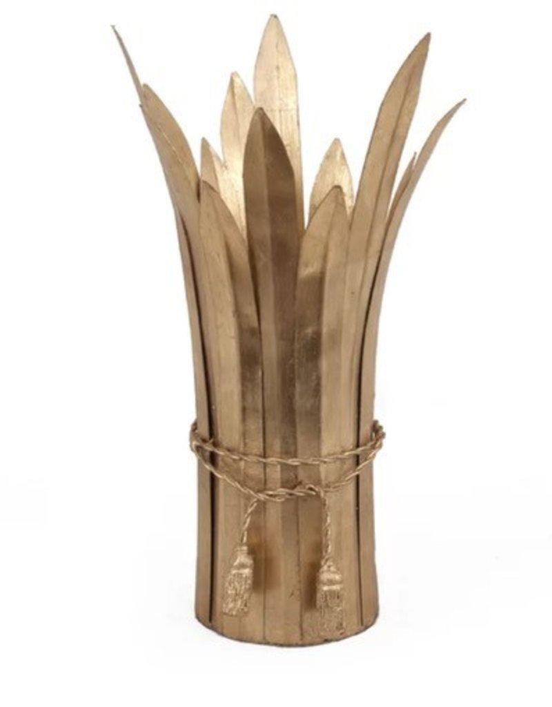 Roseau Gold Leaf Vase