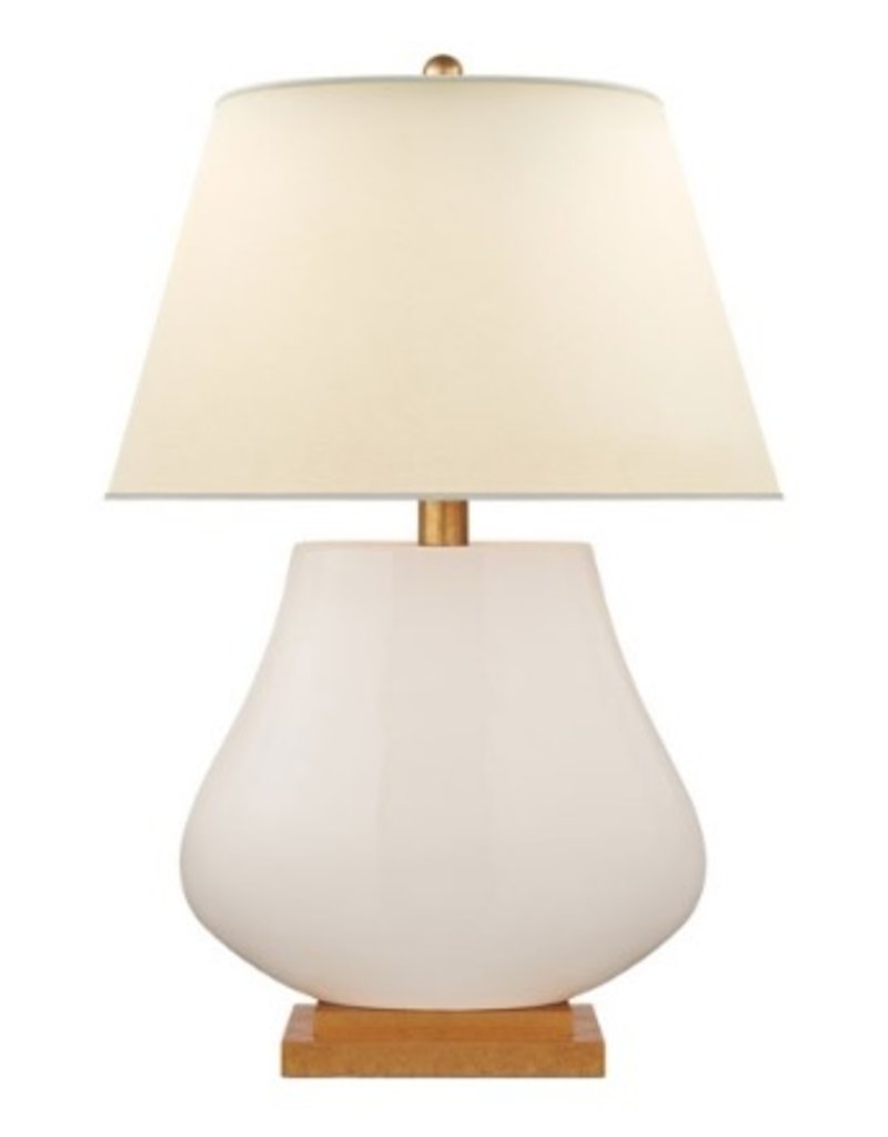 Taiping Table Lamp in Tea Stain with Natural Percale Shade