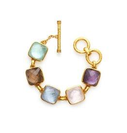 Catalina Stone Bracelet Gold Multi Stone