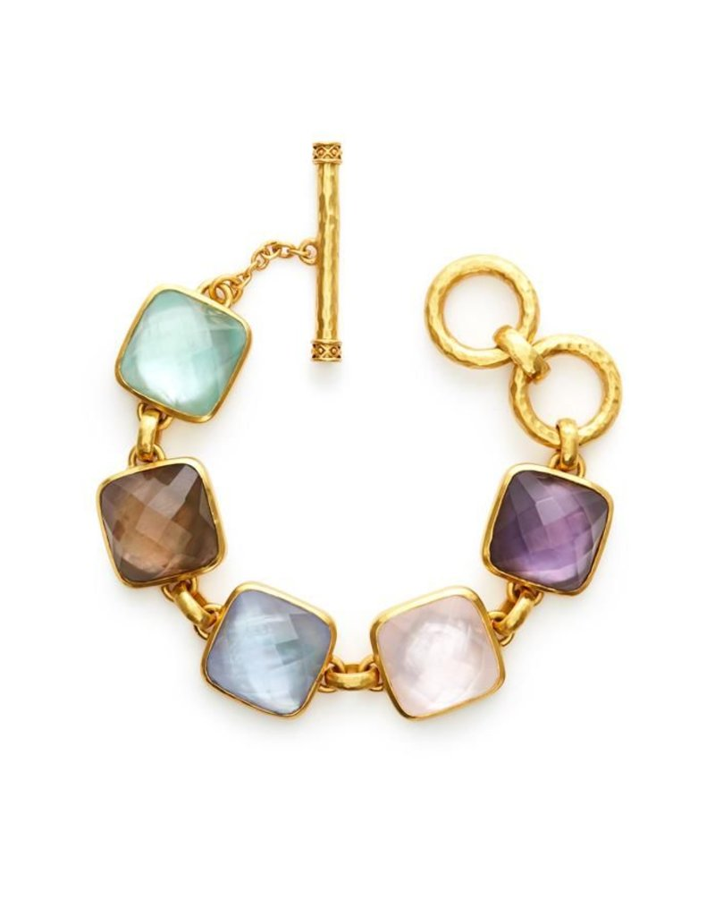 Catalina Stone Bracelet Gold Multi
