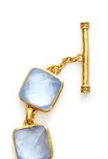 Catalina Stone Bracelet Gold Iridescent Chalcedony
