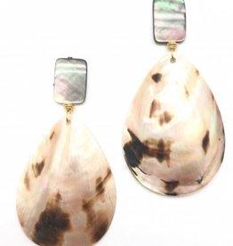 Onyx Shell Earrings