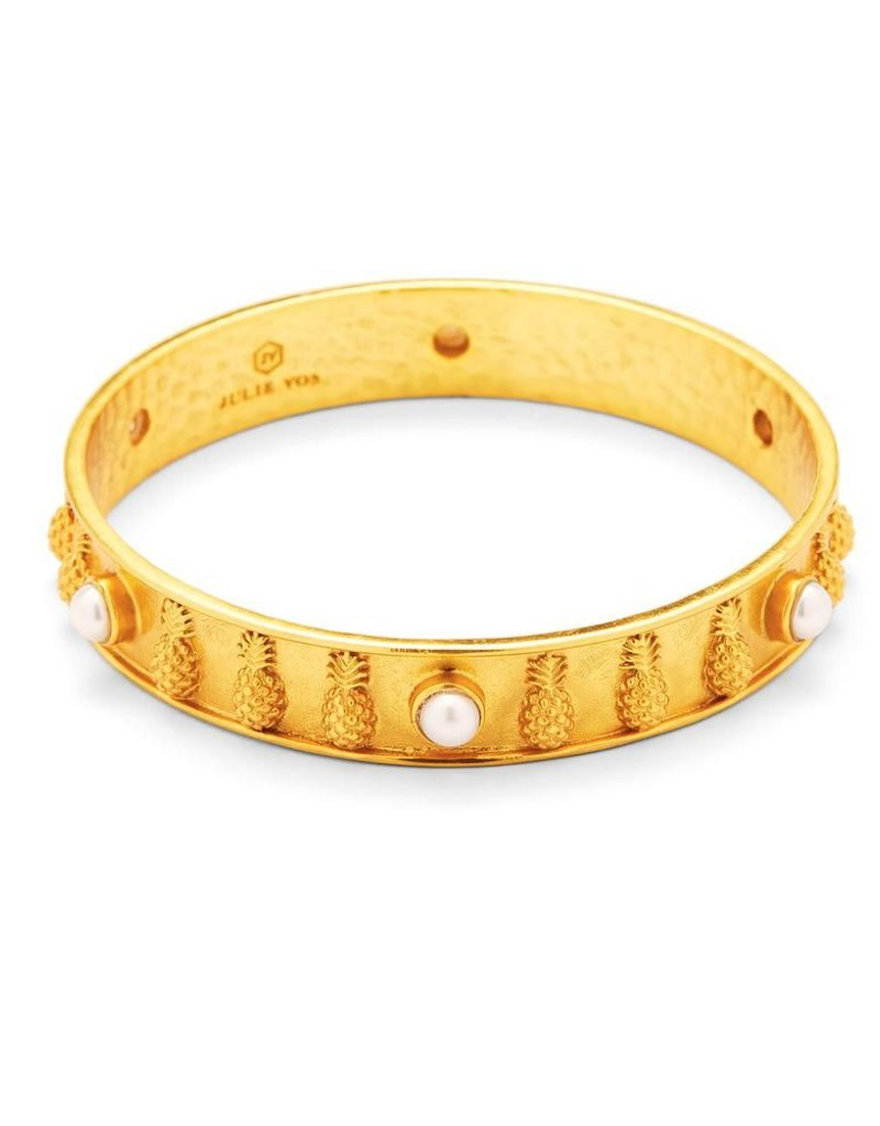 Pineapple Bangle Gold Pearl Medium
