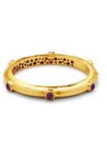Catalina Hinge Bangle Gold Amethyst Purple
