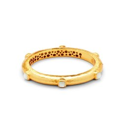 Catalina Hingle Bangle Gold Mother of Pearl