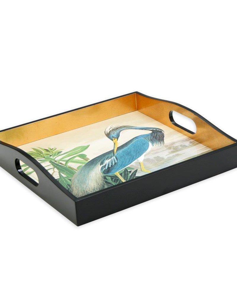 Audubon Heron Lacquer Square Tray