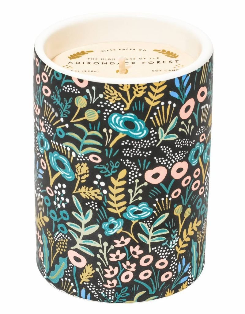 Adirondack Forest Ceramic Candle