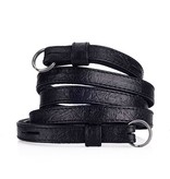 Strap - Traditional Black Ostrich Look