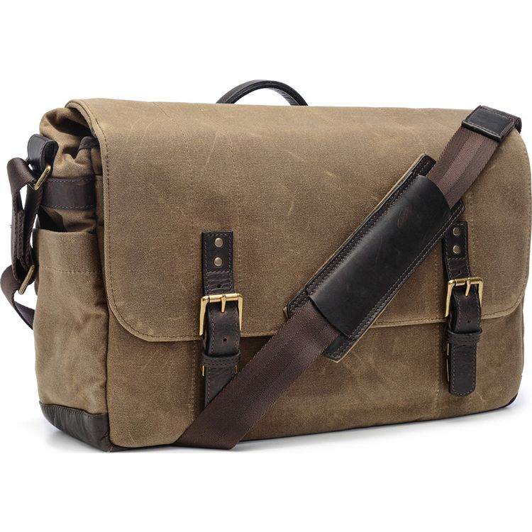 ONA: Union Street Messenger Field Tan Bag