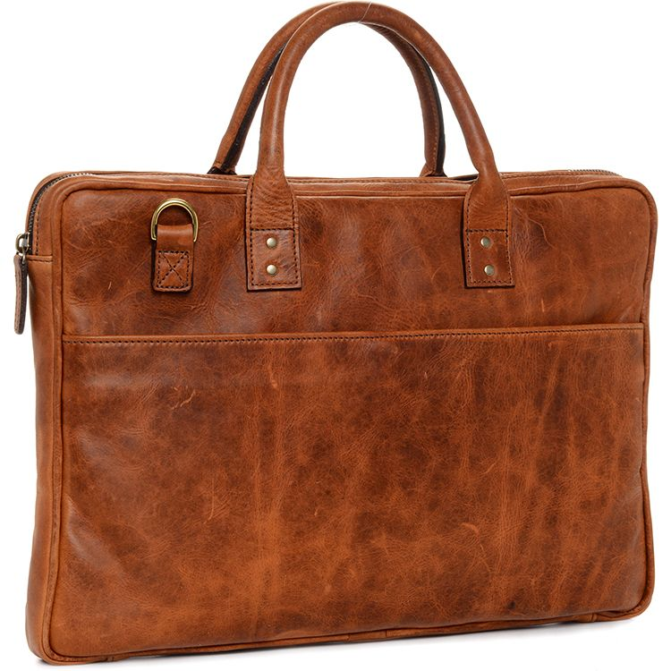 ONA: Leather Kingston Antique Cognac Bag