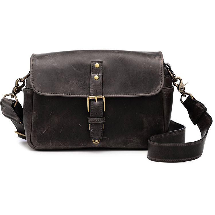 ONA: Bowery Leather Dark Truffle Bag