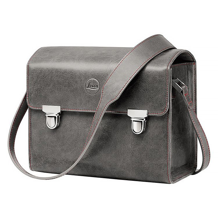 System Case - Small Leather Stone Grey