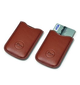 SD Card & Credit Card Holder Leather (Cognac)