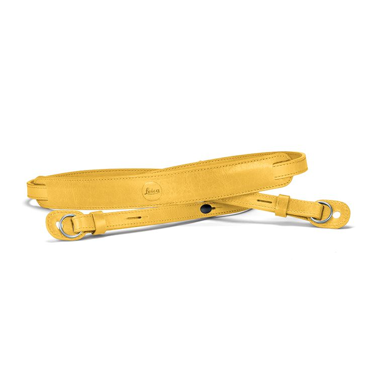 Neck Strap Leather Yellow (TL)