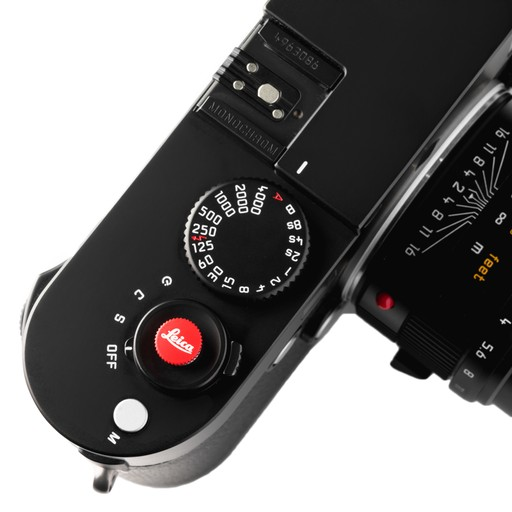 Soft Release Button: 'Leica' 8mm Red