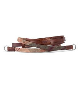 Neck Strap - Leather / Fabric  Check CL