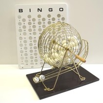 Large Bingo Cage with Balls & Masterboard