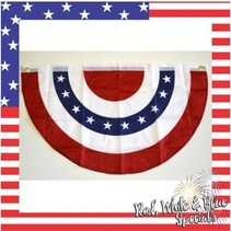 Red White & Blue Bunting 20'x36""