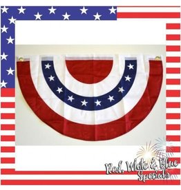 """Red White & Blue Bunting 20'x36"""""""