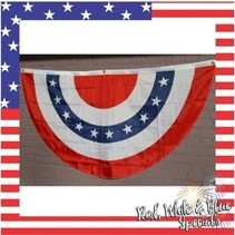 Red White & Blue Bunting 36'x72""