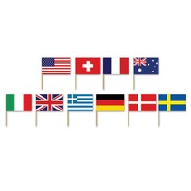 International Flag Picks 50 count