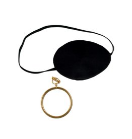Pirate Eye Patch with Earring