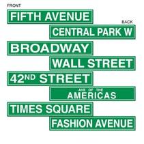NYC Road Sign Cutouts