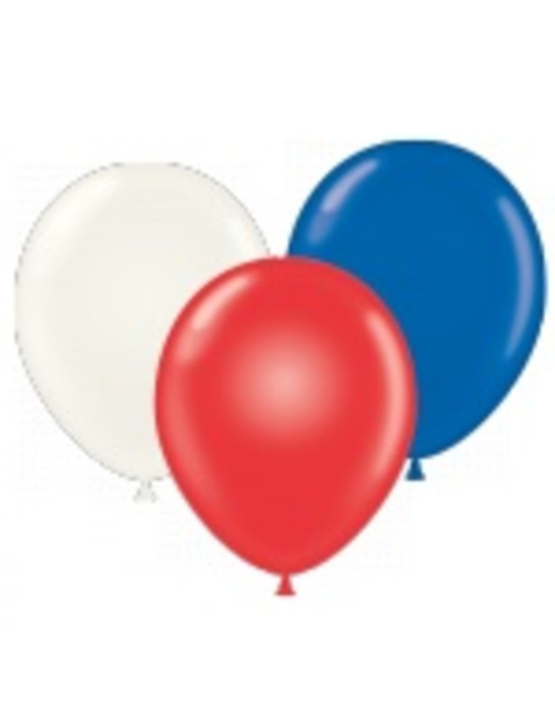 "50 CT 17"" RED-WHITE-BLUE ASST"