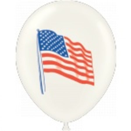 "100 CT 11"" US FLAG BALLONS"