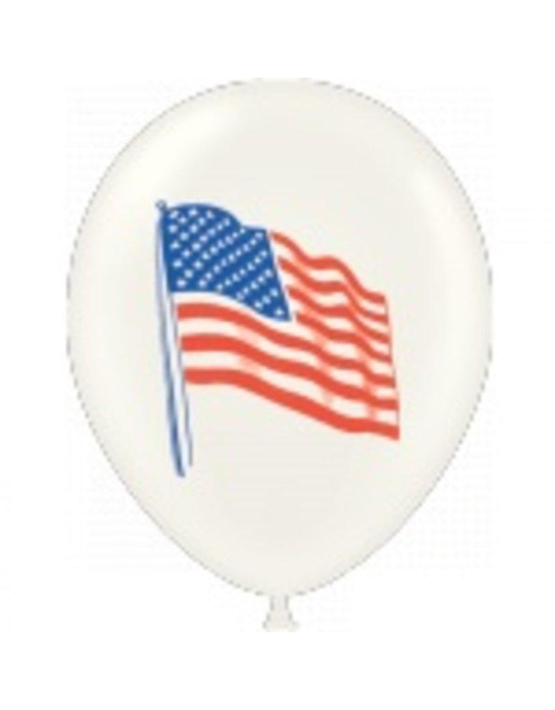 """100 CT 11"""" US FLAG BALLONS"""