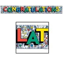 Congratulations Metallic Banner