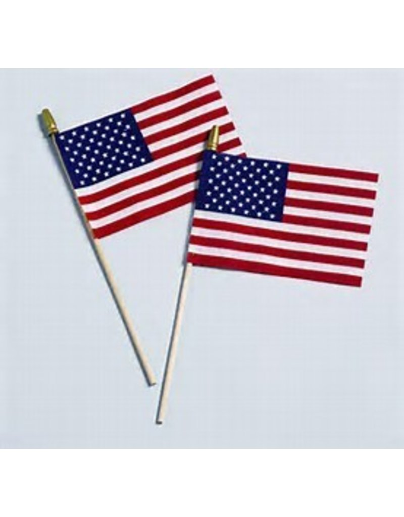 "4""x6"" U.S. FLAG WITH SPEAR"