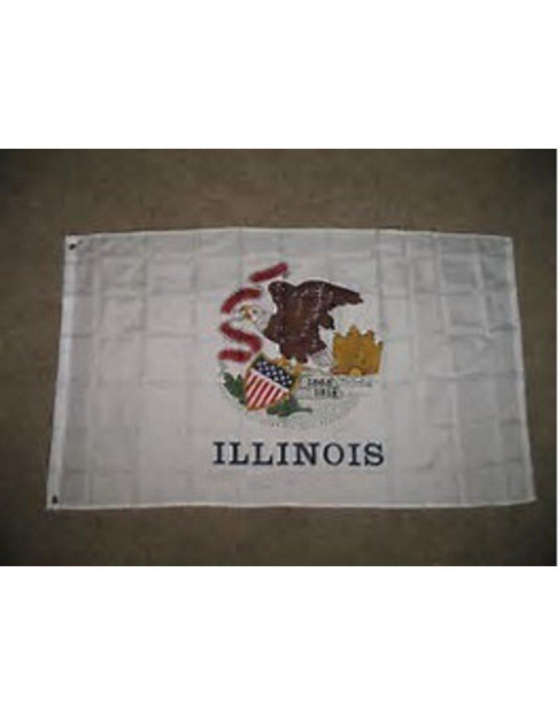 4'x'6' ILLINOIS FLAG