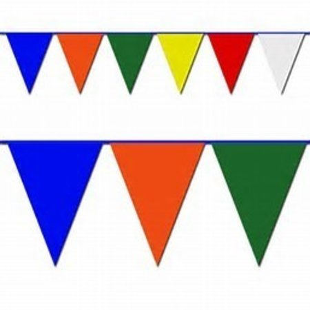 100' MULTI COLOR PENNANTS