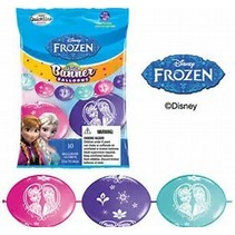 FROZEN PARTY BANNER BALLOONS
