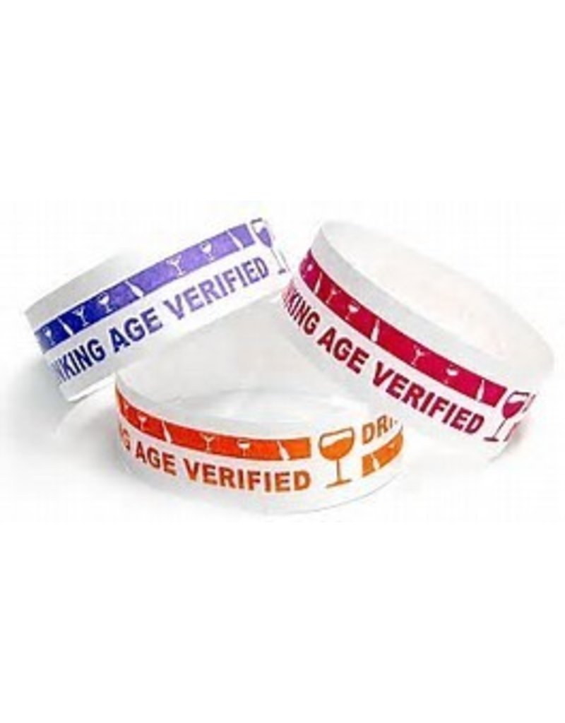 100 CT DRINKING AGE ARMBANDS