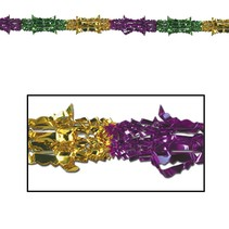 Deluxe Mardi Gras Garland- 8in x 9ft