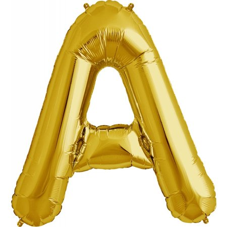 "34"" Gold Foil A Balloon"