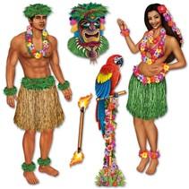 Hula Girl & Polynesian Props Insta Theme