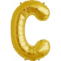 "34"" Gold Foil C Balloon"