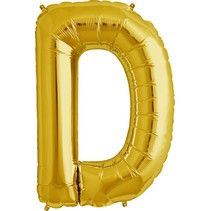 "34"" Gold Foil D Balloon"