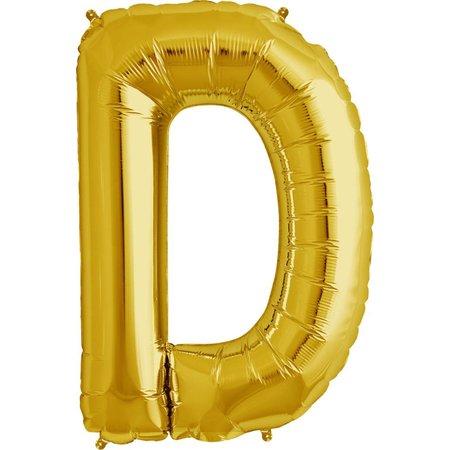 """34"""" Gold Foil D Balloon"""