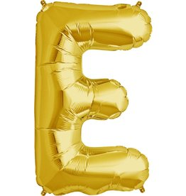 "34"" Gold Foil E Balloon"
